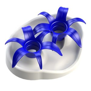 Aikiou Interactive bowl flower white/blue