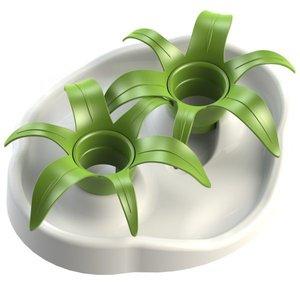 Aikiou Interactive bowl flower white/green