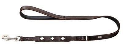 Fuhrleine Swiss, 18/100   braun/schwarz, Leder     1