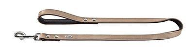 Fuhrleine Basic 18/100 nickel   beschichtetes Spaltleder stone/schwarz     1