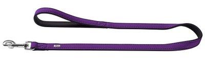 Fuhrleine Softie, 20/100   Kunstleder, violett/schwarz     1