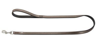 Hunter Führleine Capri Pearl, 20/100 braun/schwarz, Leder  1