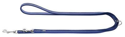 Hunter Verst.Führleine Cannes Mini, 11/200 blau, Leder  1