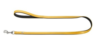 Hunter Führleine Capri Pearl, 20/100 gelb/schwarz, Leder  1