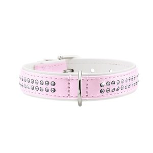 Hunter Halsband Modern Art Deluxe nickel Licht Roze / Wit