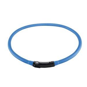 LED Silikon Leuchtschlauch, Yukon, Hund   universal 20-70 cm, blau, kurzbar, mit USB Kabel     3