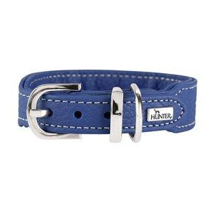 Hunter Halsband Cannes Mini, 32 blau, Leder  1